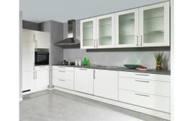 Einbauküche Laser Brilliant in weiß, Neff-Geschirrspüler