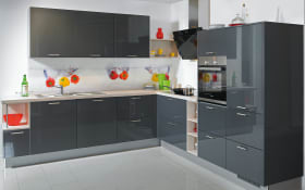 Einbauküche Stratos in schwarz