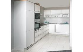 Einbauküche Laser Brillant in weiß, Siemens-Geschirrspüler