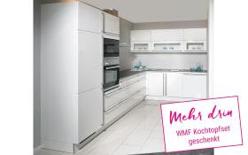 Einbauküche Laser Brillant in weiß, Miele-Geschirrspüler