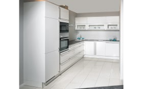 Einbauküche Laser Brillant C238 in weiß, AEG-Geschirrspüler