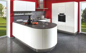 Einbauküche Lumos in weiß, Blaupunkt-Geschirrspüler