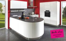 Einbauküche Lumos in weiß, Siemens-Geschirrspüler