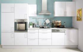 Marken-Einbauküche Cristall in weiß, AEG-Geschirrspüler