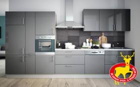 Einbauküche Cristall in grau, Siemens-Geschirrspüler SN614S00AE