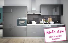 Einbauküche Cristall in grau, Neff Geschirrspüler