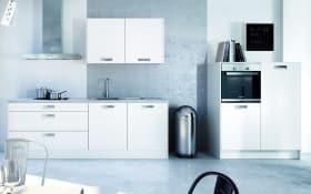 Einbauküche Integrale in weiß, Siemens-Geschirrspüler