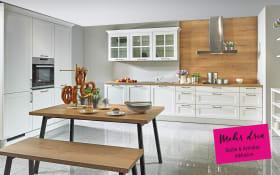 Einbauküche Malaga in weiß, Neff-Geschirrspüler