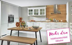 Einbauküche Malaga in weiß, Neff Induktionskochfeld