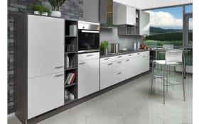 Einbauküche Laser brillant C238 in weiß, Miele-Geschirrspüler