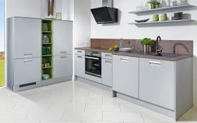 Einbauküche Integrale in perlgrau, AEG-Geschirrspüler