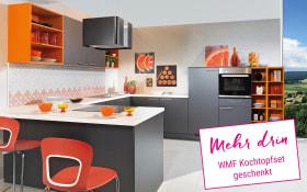 Einbauküche Uno in graphit, Miele-Geschirrspüler