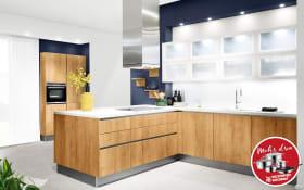 Einbauküche Vancouver in Alteiche natur-Optik, Blaupunkt Geschirrspüler 5VF410NP
