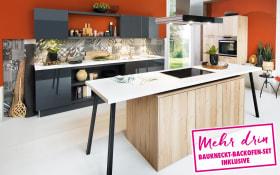 Einbauküche Toronto 2 in Asteiche sand Optik, Bauknecht-Geschirrspüler