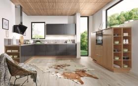 Einbauküche Uno in carbon, inklusive Neff Elektrogeräte