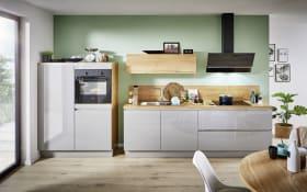 Einbauküche Laser brillant in perlgrau mit Privileg-Geschirrspüler
