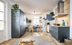 Einbauküche Lotus, graphit, inklusive Privileg Elektrogeräte