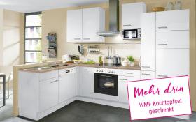 Einbauküche IP1200 in weiß, Miele-Geschirrspüler