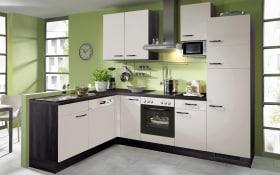 Einbauküche IP1200 in kieselgrau, AEG-Geschirrspüler FEB31600ZM