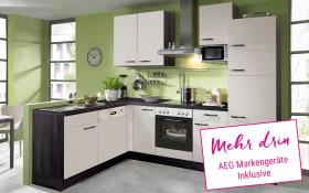 Einbauküche IP1200 in kieselgrau, AEG-Geschirrspüler