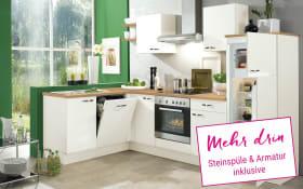 Einbauküche IP1200 in magnolienweiß, Miele Geschirrspüler G4380 VIED