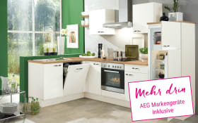 Einbauküche IP1200 in magnolienweiß