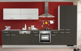 Einbauküche IP3150 in graphit kieselgrau matt, Miele Geschirrspüler G4380VI
