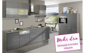 Einbauküche IP4000 in anthrazitgrau