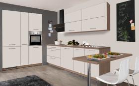 Einbauküche IP 1200 in magnolienweiß matt, AEG-Geschirrspüler