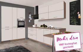 Einbauküche IP 1200 in magnolienweiß matt, Siemens-Geschirrspüler