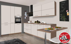 Einbauküche IP 1200 in magnolienweiß matt, Leonard Geschirrspüler LV1526