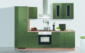 Einbauküche in Terra Opal, AEG-Geschirrspüler