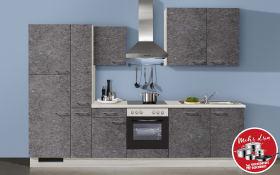 Einbauküche IP3500 in Felsgrau, Vestel Geschirrspüler GSVI60D13A