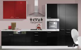Einbauküche IP4050 in schwarz Hochglanz, AEG-Geschirrspüler