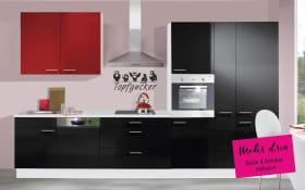 Einbauküche IP4050 in schwarz Hochglanz, Neff-Geschirrspüler