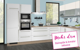 Einbauküche  IP1200 in weiß, Miele Backofen