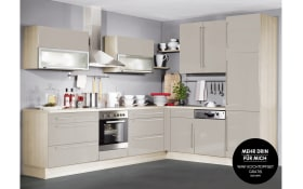 Einbauküche IP4000 in champagner, Ignis Geschirrspüler GKIE2B19