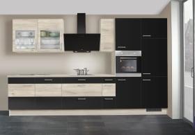 Einbauküche IP 3150 in weiß/schwarz
