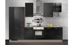Einbauküche 570 IP.4050 Hochglanz schwarz, Vestel Geschirrspüler GSVI60D13/A++