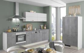Marken-Einbauküche 700 PN 100 in Beton-Optik
