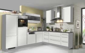 Marken-Einbauküche 743 PN 280 in weiß