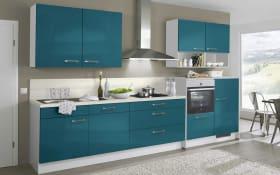 Einbauküche 742 PN270 in petrolblau