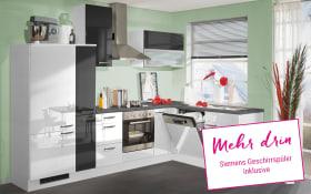 Einbauküche 270 in weiß Hochglanz, Siemens-Geschirrspüler