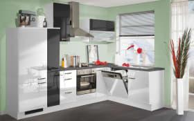 Einbauküche 270 in weiß Hochglanz, AEG-Geschirrspüler