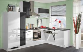 Einbauküche 270 in weiß Hochglanz, Zanker Geschirrspüler KDT10003FB