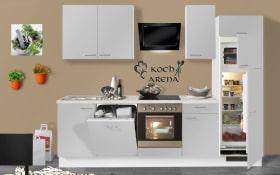 Einbauküche PN 80 in platingrau, AEG-Geschirrspüler