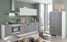 Einbauküche Pino 100 in Beton-Optik, AEG-Geschirrspüler