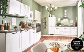 Einbauküche PN435 in weiß matt, Siemens Geschirrspüler SN614X00AE