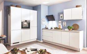Einbauküche PN490 in weiß matt, Zanker Geschirrspüler KDT10003FB
