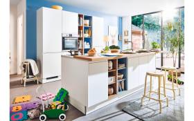Einbauküche PN490 in weiß matt Lack, Zanker Geschirrspüler KDT10003FB